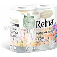 Бумага туалетная  Reina 2-сл Цветочная свежесть бл 4