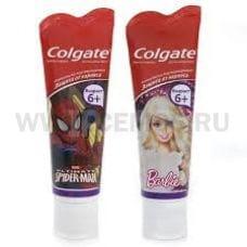 Colgate  75мл Детская  Barbie,Spiderman 6+,З/п