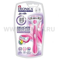 Deonica Бритва безопасная с 1 кас  5 лезвий For Women