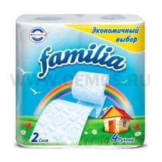 Бумага туалетная  Familia Радуга 2-сл. бл 4