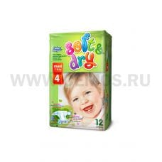 Helen Harper Подгузники Soft & Dry 4 Maxi(7-18кг/9-14кг)12шт