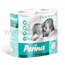 Бумага туалетная  Perina 3-сл Белая бл 4