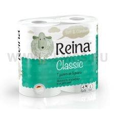 Бумага туалетная  Reina 2-сл Белая бл 4