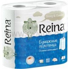 Полотенца бумажные Reina 2-х сл бл2