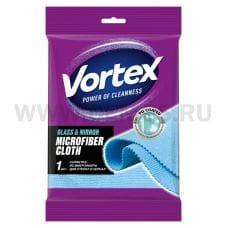 VORTEX Салфетка из микрофибры бл1 для стекол и зеркал