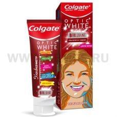 Colgate  50мл Optic white Brilliant,З/п