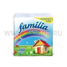 Салфетки Familia Радуга 24*23 бл 100