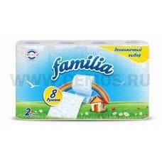 Бумага туалетная  Familia Радуга 2-сл. бл 8