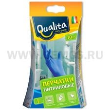 QUALITA Перчатки нитриловые L бл.10