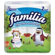 Полотенца бумажные Familia 2-сл сл бл2*14