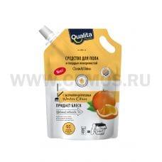 QUALITA Средство д/мытья пола 500мл дой-пак Winter citrus