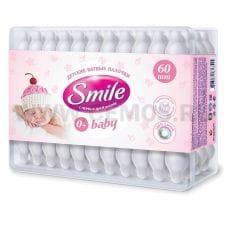 SMILE Ватные палочки бл60 для детей в коробке