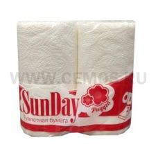 Полотенца бумажные SunDay 2-сл бл 2