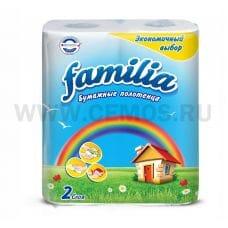 Полотенца бумажные Familia Радуга 2-сл бл2