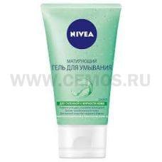 NIVEA VISAGE Гель 150мл д/умывания матирующий (зел)
