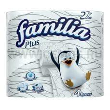 Бумага туалетная  Familia Plus 2-сл. бл 4