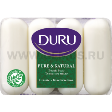 Duru Пюр/натурал 4*85г  Классическое экопак