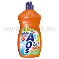 AOS  450мл Бальзам  ромашка витамин Е, М/с