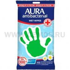 AURA Влаж.салф. Антибактериальные бл15 Derma Protect Ромашка