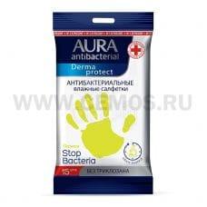 AURA Влаж.салф. Антибактериальные бл15 Derma Protect Лимон